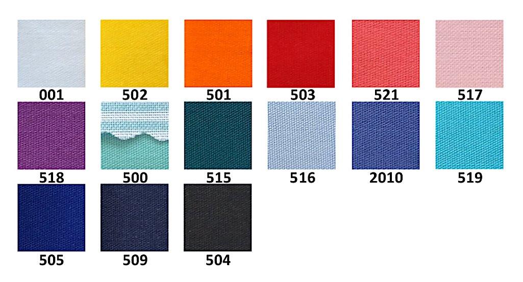 Цветове на плат Астра 1005; Colours of workwear fabric Astra 1005