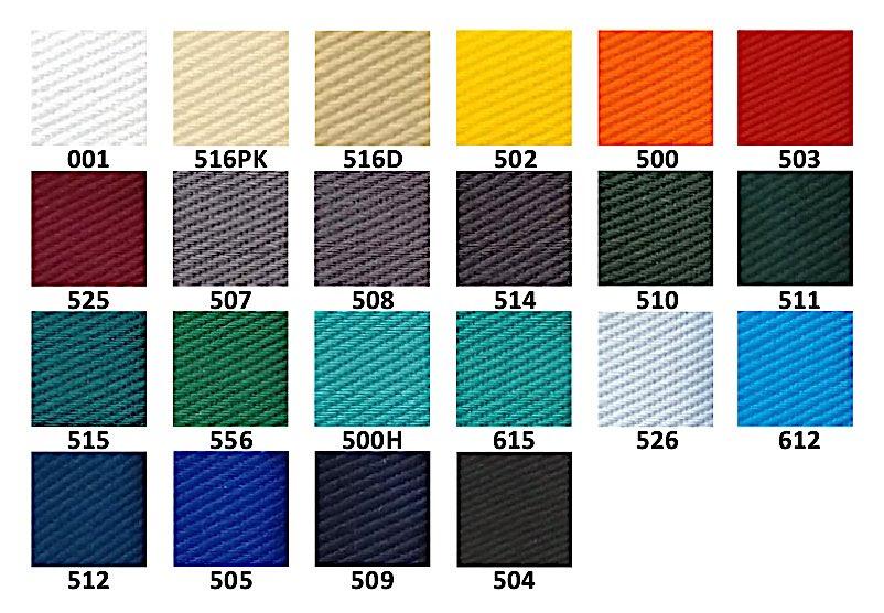 Цветове на плат Астра 2004; Colours of workwear fabric Astra 2004